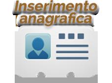 Inserimento anagrafica